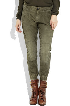Burberry Slim-fit%20cropped%20cotton%20pants