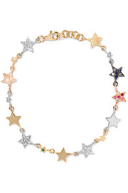 Superstellar 18-karat gold, diamond and sapphire bracelet