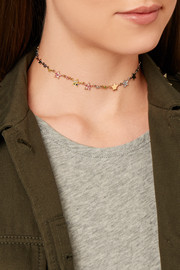 Carolina Bucci Superstellar 18-karat gold, sapphire and diamond choker