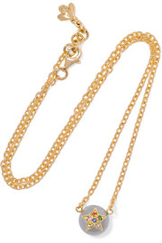 Superstellar 18-karat gold, sapphire and pearl necklace