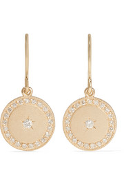 Phases of the Moon 18-karat gold diamond earrings