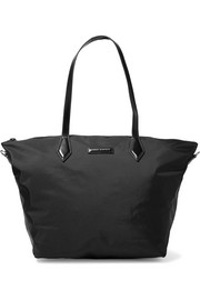 Goer leather-trimmed shell tote