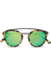 Flower 2 aviator-style tortoiseshell acetate mirrored sunglasses