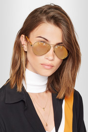 Concorde 10 aviator-style acetate and gold-tone sunglasses