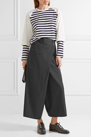Junya Watanabe Cropped wool-twill wide-leg pants