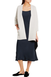 Ribbed cashmere and wool-blend cardigan