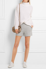 Wool and cashmere-blend shorts