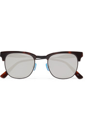 Vanguard 17 square-frame acetate and metal mirrored sunglasses