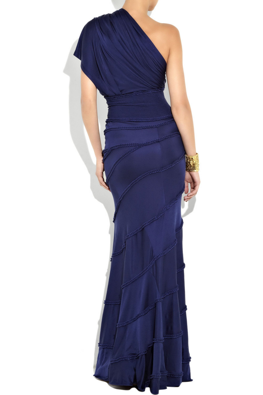 Catherine Malandrino Asymmetric silk-jersey gown