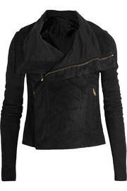 Blister brushed-leather biker jacket