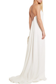Calvin Klein Collection Alessia silk crepe de chine gown