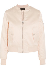 Maje Bart satin bomber jacket