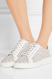 Alaïa Laser-cut leather sneakers