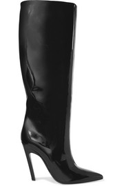 Balenciaga Patent-leather knee boots