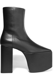 Balenciaga Leather platform ankle boots