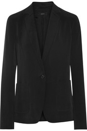 Deauville washed-silk blazer