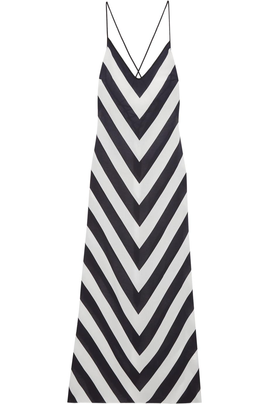 Emilia Printed Voile Maxi Dress, Size: S