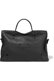 Balenciaga City Blackout L perforated leather tote