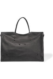 City XL Blackout perforated leather tote