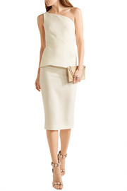 Roland Mouret Anerley one-shoulder wool-crepe dress