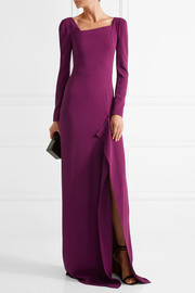 Lely stretch-crepe gown