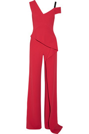 Roland Mouret Tilson off-the-shoulder cutout stretch-crepe jumpsuit