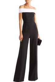 Roland Mouret Neilson off-the-shoulder stretch-crepe jumpsuit