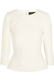 Roland Mouret Carron fluted crepe top