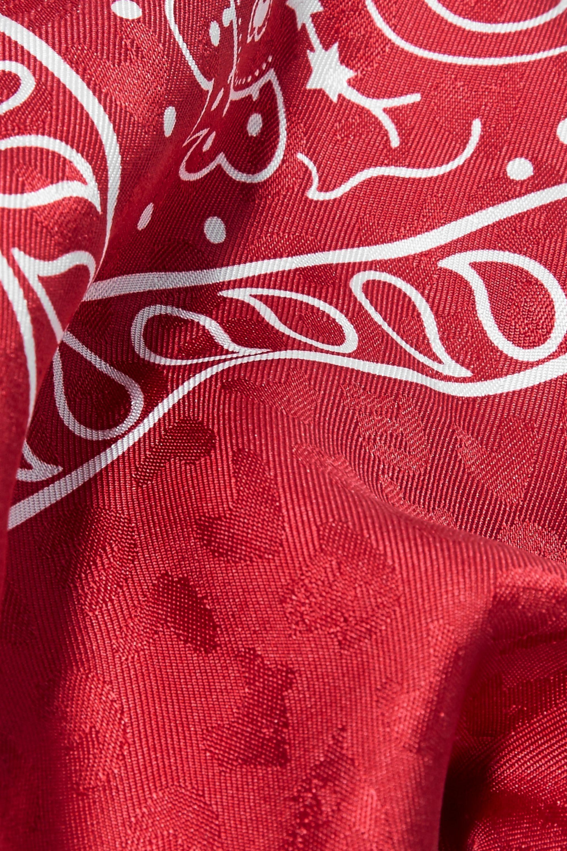 Balenciaga Printed silk-jacquard scarf
