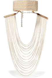 Eleonora convertible gold-tone pearl necklace
