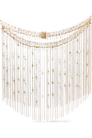 Svevo gold-tone mother-of-pearl body chain
