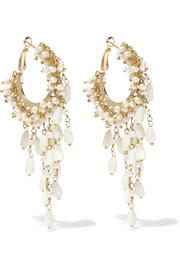 Rosantica Pascoli gold-tone mother-of-pearl earrings
