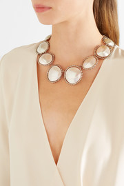 Carducci palladium-tone mother-of-pearl necklace