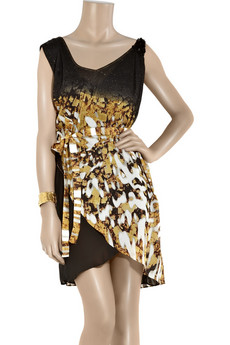 Just%20Cavalli Sequined%20silk-georgette%20dress