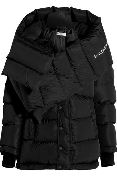 Balenciaga Swing Doudoune Oversized-Daunenjacke aus gestepptem Shell mit Kapuze