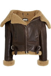 Swing Bombardier oversized shearling jacket