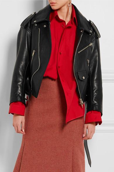 Balenciaga | Swing leather biker jacket | NET-A-PORTER.COM