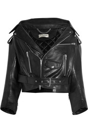 Balenciaga Swing leather biker jacket