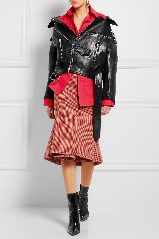 Balenciaga Swing leather biker jacket