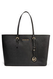 Jet Set Travel textured-leather tote