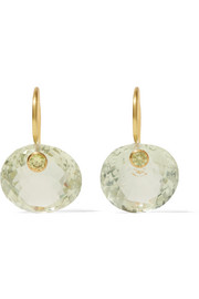 Marie-Hélène de Taillac 22-karat gold, quartz and sphene earrings