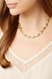Marie-Hélène de Taillac Soft Kiss 22-karat gold necklace