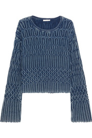 Chloé Cable-knit cotton sweater