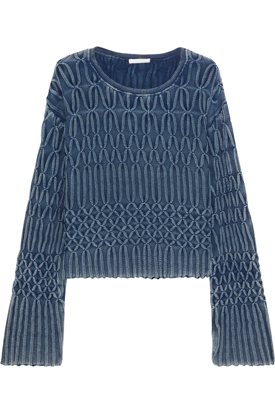 Chloé Cable-Knit Cotton Sweater, Size: XS