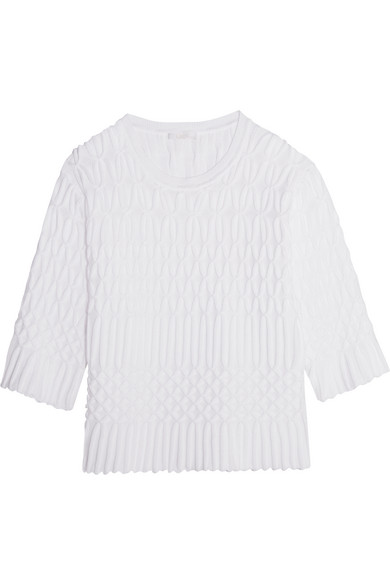 Chloé - Textured Cotton Sweater - White