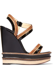 Trepi patent-leather wedge sandals