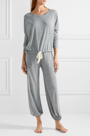 Heather jersey pajama top