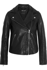 Moto leather biker jacket