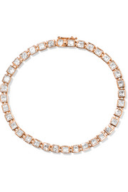 T Tennis medium 18-karat rose gold diamond bracelet