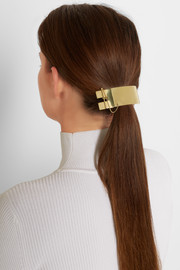 Slized gold-tone hairclip